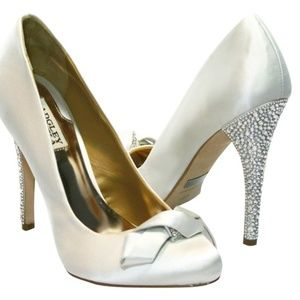 Badgley Mischka Forever Yours Satin Crystal Shoes
